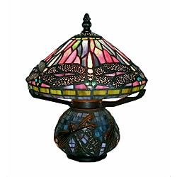 Tiffany-style Dragonfly Mozaic Table Lamp
