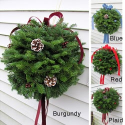 Fresh Balsam Kissing Ball Wreath