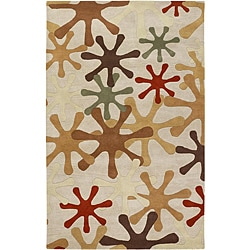 Hand-tufted Whimsy Off White Wool Rug (5' x 8')