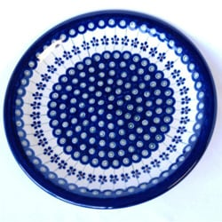 Ceramic Stoneware Blue and White 10.75-inch Dinner Plate (Poland) 7554644