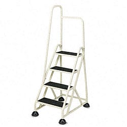 Stop-Step Folding Aluminum Handrail Ladder