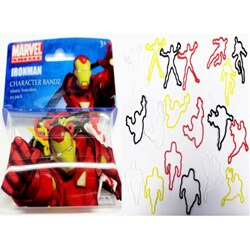 Character Bandz 'Marvel: Iron Man' Characters Shaped Silicone Kids Bracelets (2 packs).