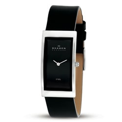 Skagen 359USLB Black Leather Strap Watch