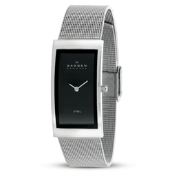 Skagen 359USSB Women's Black Dial Stainless Steel Watch