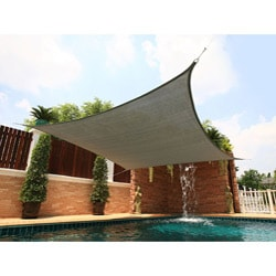 Medium Square Silver Sail Sun Shade