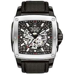 Bulova 'BVA-Series 510' Automatic Skeleton Dial Watch