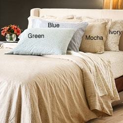 Reflections Tear Drop Cotton Sateen 300 Thread Count Twin-size Sheet Set