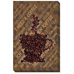 'I Need a Coffee' Gallery-wrapped Canvas Art