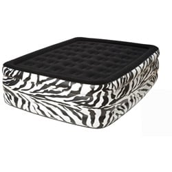 Pure Comfort Zebra Queen Raised Flock Top Air Bed