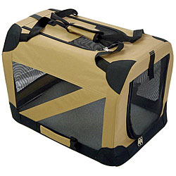 Pet Life Extra Large 360-degree View Khaki Pet Carrier