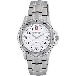 Swiss Military Men's Stainless Steel White Dial Watch