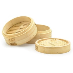 Bamboo 3-piece 12-in Steamers (Set of 2)