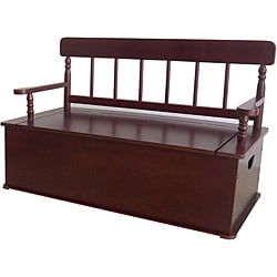 Levels Of Discovery Simply Classic Cherry Finish Storage Bench Seat