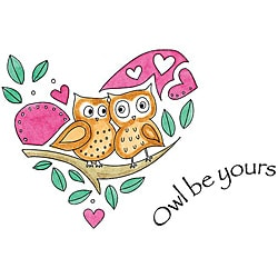 Penny Black 'Owl Be Yours' Cling Rubber Stamp