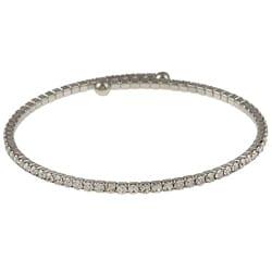 Celeste Silvertone Crystal Bangle Bracelet