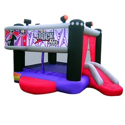 KidWise Rock Star Inflatable Bounce House 7824024