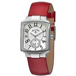 Philip Stein Women's 'Signature Classic' Red Strap Watch