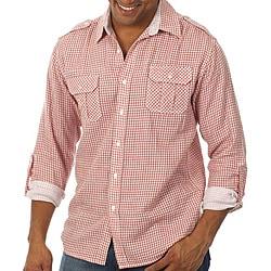 191 Unlimited Men's Gingham Plaid Shirt