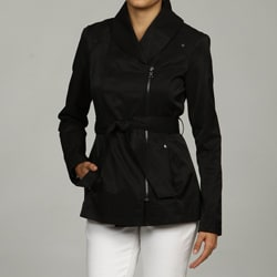 Kenneth Cole Women's Short Belted Trench Coat