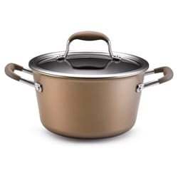 Anolon Advanced Bronze Collection 4.5-quart Covered Tapered Saucepan