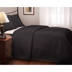 Roxbury Park Quilted Black Coverlet
