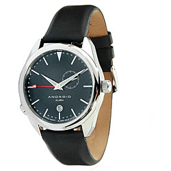 Android Men's Impetus Swiss Quartz Alarm Leather Strap Watch