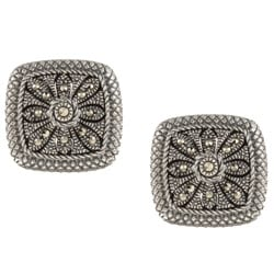 MARC Sterling Silver Square Marcasite Earrings