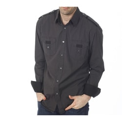 191 Unlimited Men's Charcoal Gingham Shirt