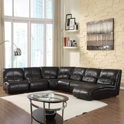 The Rose Modern 6-piece Brown Sectional Set