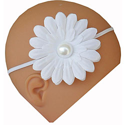 Itty Bitty White Pearl Flower Headband