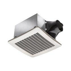 White 80 CFM Humidity Sensor Fan