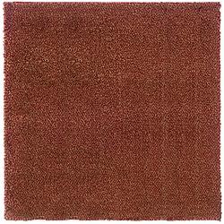 Manhattan Tweed Red/ Gold Shag Rug (8' Square)