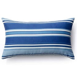 Jiti Pillows Blue Stripes Outdoor Throw Pillow