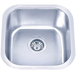 Somette Undermount Stainless Steel Single-bowl Sink