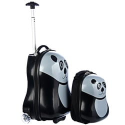 Trendykid Travel Buddies Panda 2 Piece Hardside Kid's Luggage Set