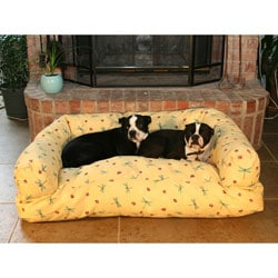 Large Buttercup Dragonfly Bolster Pet Bed