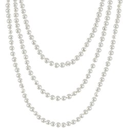 Pearls For You 14k Gold White Freshwater Potato Pearl Necklace (6-6.5 mm)
