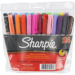 Sanford Sharpie Assorted Ultra Fine Point Permanent Markers (Set of 24)