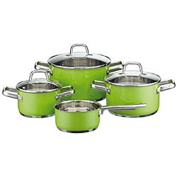 Elo Classic Color Stainless Steel 7-piece Green Cookware Set