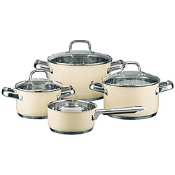 Elo Classic Color Stainless Steel 7-piece Vanilla Cookware Set