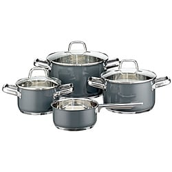 Elo Classic Color Stainless Steel 7-piece Cool Grey Cookware Set