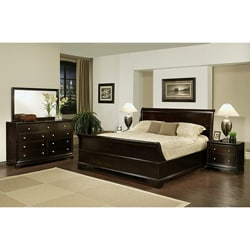 Kingston 5-piece Espresso Sleigh King-size Bedroom Set