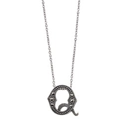 MARC Sterling Silver Marcasite Initial 'Q' Necklace 8276728