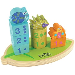 Boikido Wooden Stack Count Shapes Toy 8293147