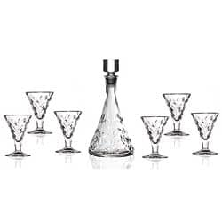 RCR Crystal Laurus Collection 7-piece Liquor Set