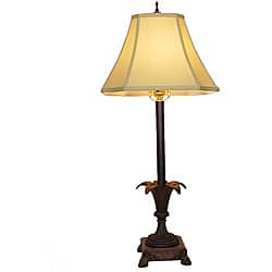Open Leaves Metal Table Lamp