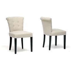 Philippa Beige Linen Dining Chairs (Set of 2)