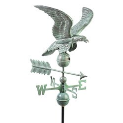 Blue Verde Smithsonian Eagle Weathervane