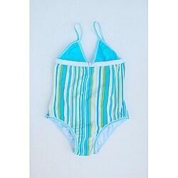 Azul Swimwear Girl's Turquoise One-piece Swimsuit
