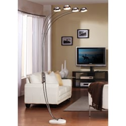 Modern Chrome Metal Arch Lamp